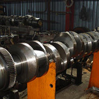 METALOCK, coaxial hole boring, crankshaft repair work